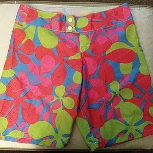 Knee length pool shorts
